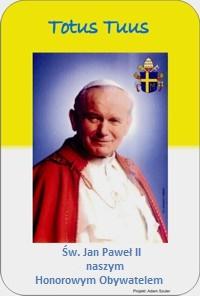 Jan Paweł II - Honorowy Obywatel Gminy Zarszyn